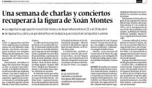 Una semana de charlas y conciertos recuperará la figura de Xoán Montes