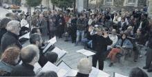 Sólo Voces e Adolfo de Abel Vilela percorreron as rúas nas que creou o compositor Xoán Montes