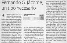 Fernando G. Jácome, un tipo necesario